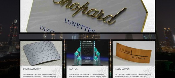 Logics IT web design company Friends Arts sign adge and steel name plates website