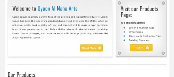 Logics IT web design company Oyoon Al Maha Business and services website print signage and steel name plates website designs