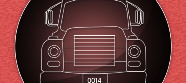 Info graphics for truck driving